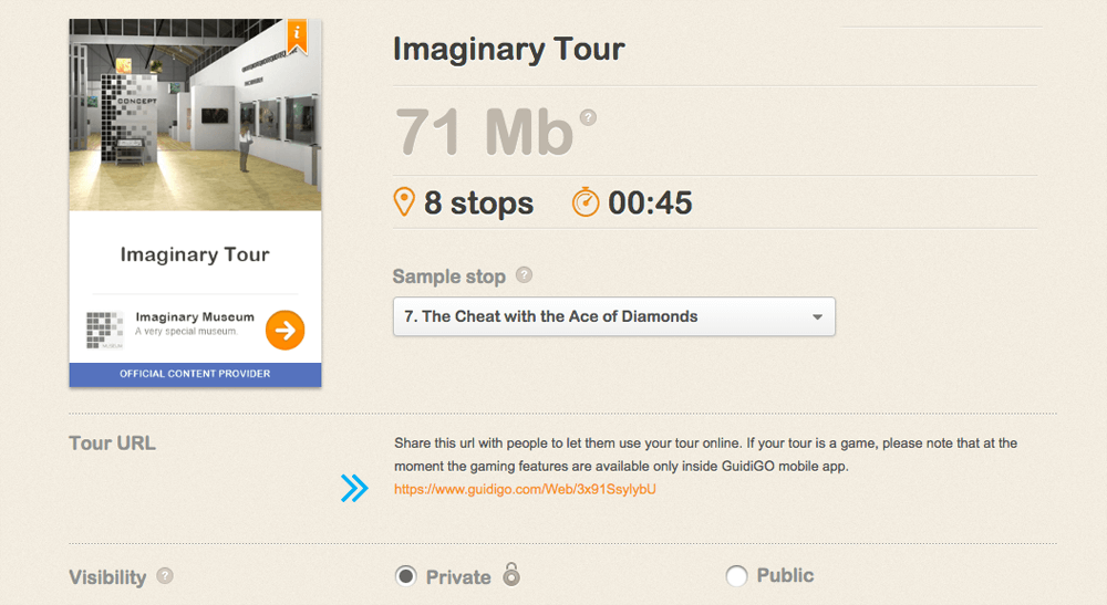 Tour-URL