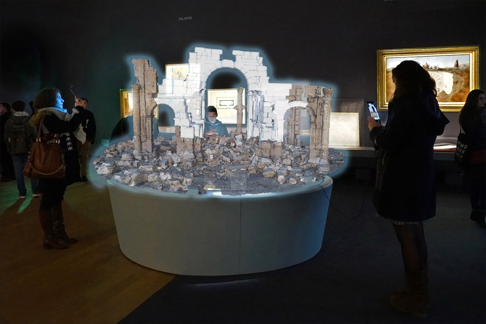 This image is a simulation of the AR experience: the life-size 3D arch was visible on the device screen.